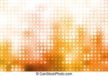 licht, glühen, hintergrund, orange, weißes, zukunftsidee