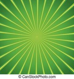 licht, glanzend, groene achtergrond, barsten
