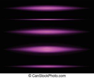 licht, horizontaal, vervagen, transparant, balken