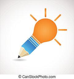 licht, idee, bol