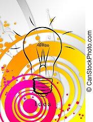 licht, idee, geschaeftswelt, zwiebel