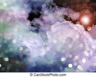 licht, in, wolkenhimmel