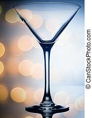 licht, kleurrijke, coctail, achtergrond, glas