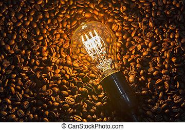 licht, koffie bonen, bol