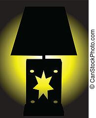 licht, lampe, gelber