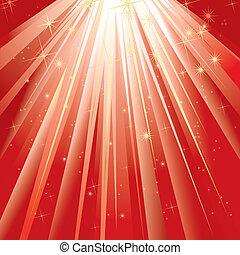 licht, magisch, (vector)