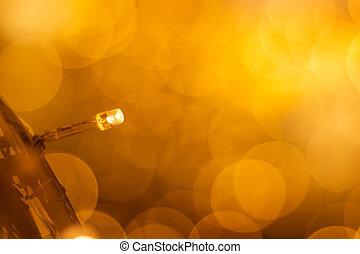 licht, metall, langer, ube, bokeh, netz