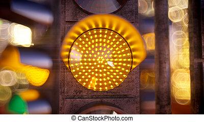 licht, modern, verkehr, stadt