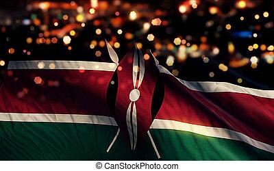 licht, national, bokeh, fahne, hintergrund, nacht, kenia, ...