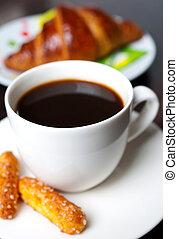 licht, ontbijt, coffee., fris