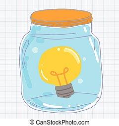 licht, potten, bol
