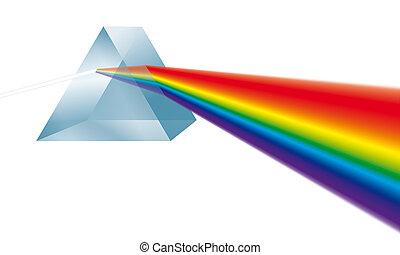 licht, prisma, bricht, dreieckig