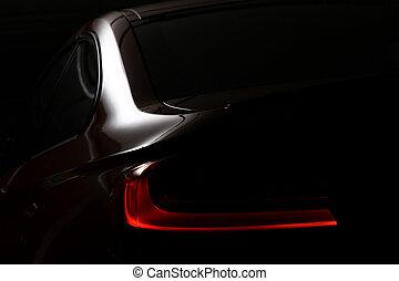 licht, rückseite