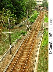 licht, rail., ihm, gleichfalls, a, art, von, transport, in, hongkong, area.