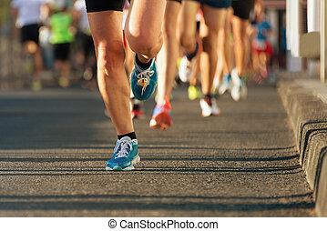 licht, rennender , ev, marathon