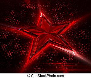 licht, rode achtergrond, sterretjes, vloeiend