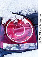 licht, schnee, auto