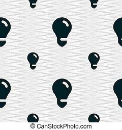 licht, teken., seamless, idee, vector, model, geometrisch, texture., bol, pictogram