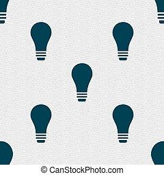 licht, teken., seamless, vector, model, bol, geometrisch, texture., pictogram