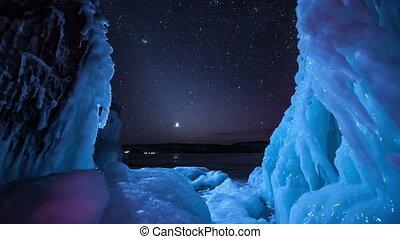 Licht,  Timelapse, nord, sternen