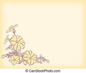 licht, -, vector, hoek, bloemen, kaart