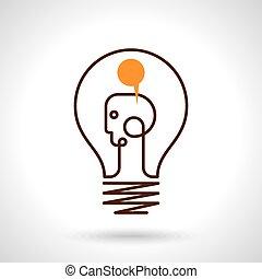 licht, vector, idee, illustratie, bol
