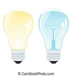 licht, vektor, zwiebel, abbildung, realistisch