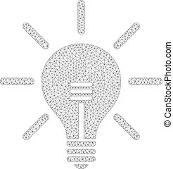 licht, vektor, zwiebel, masche, ikone