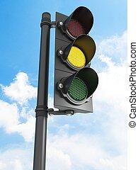licht, verkeer