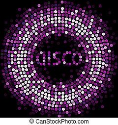 licht, viooltje, disco