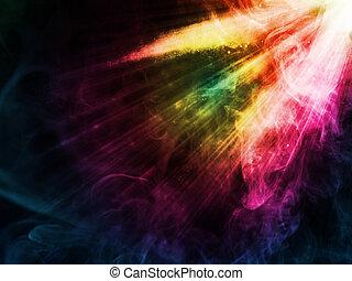 licht, vlek, illustratie