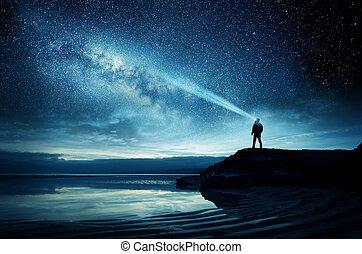 licht, voll, himmelsgewölbe