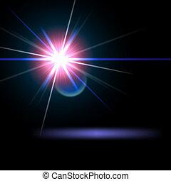 licht, vuurpijl, bijzondere , effect., vector, illustration.