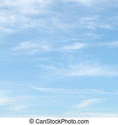 licht, wolken, in, de, blauwe hemel