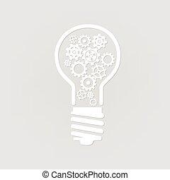 licht, zahnräder, zwiebel