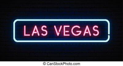 licht, zeichen., signboard., neon, hell, las vegas, las