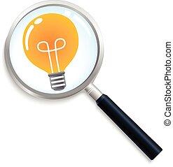 licht, zoeken, idee