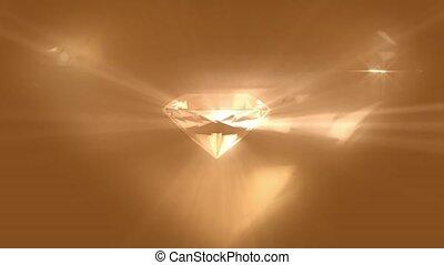 licht, zurückwerfend, diamant, aus