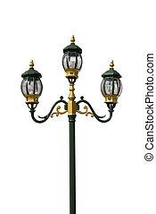 lichte pool, lamp, straat, post, straat