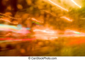 lichten, abstract, bokeh, achtergrond, defocused