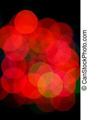 lichten, abstract, kerstmis
