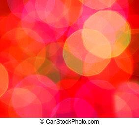 lichten, abstract, kerstmis, verdoezelen