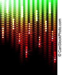 lichten, achtergrond, disco