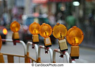 lichten, barricades