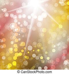 lichten, bokeh, abstract, achtergrond, feestelijk