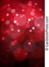 lichten, bokeh, rode achtergrond