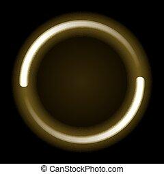 lichten, cirkel, goud, vloeiend