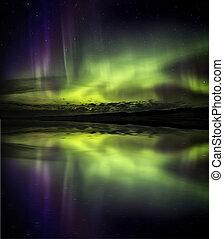 lichten, dageraad, noordelijk, borealis
