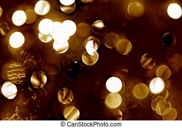 lichten, defocused, kerstmis