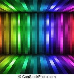 lichten, disco, achtergrond, abstract